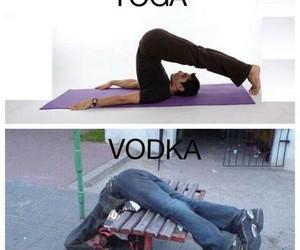 vodka, yoga, and funny image