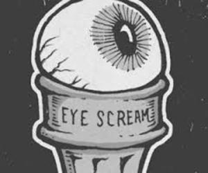 grunge, eye scream, and tumblr image