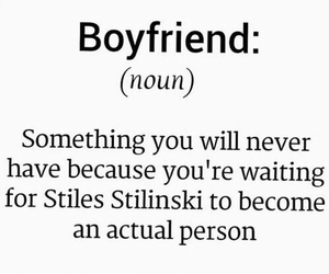 teen wolf, stiles stilinski, and boyfriend image