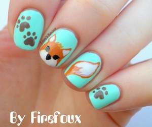 nails, fox, and animals image