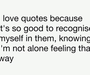 feeling, not alone, and quotes image