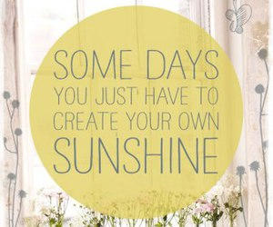 sunshine and quote image