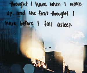 quote, sleep, and thoughts image