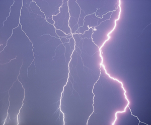 lightning, purple, and sky image