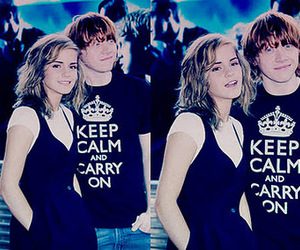 couple, hermione, and keep calm image