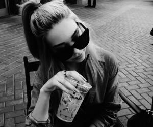girl, black and white, and amanda steele image