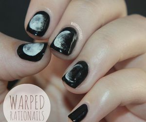 nails, black, and cool image