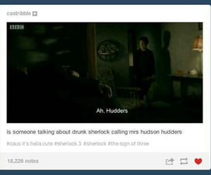 funny, tumblr post, and sherlock holmes image