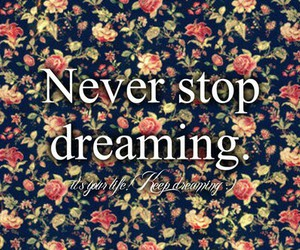 dreaming, never, and Dream image