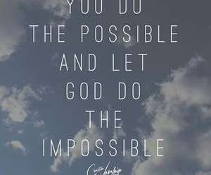 god, impossible, and jesus image