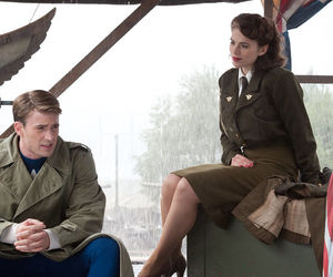 captain america, chris evans, and peggy carter image