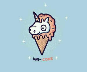 unicorn, cone, and ice cream image