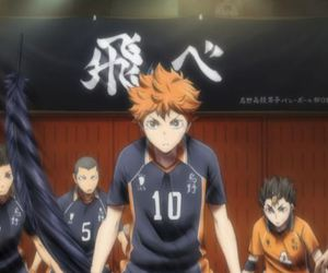 anime, fly, and haikyuu image