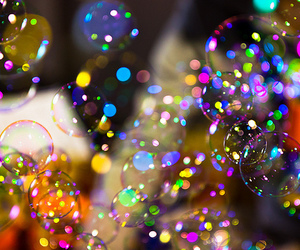 bubbles, colors, and colorful image