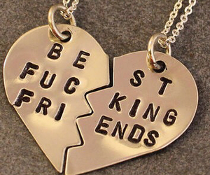 friends, friendship, and necklace image