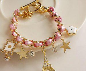 bracelet, pink, and paris image
