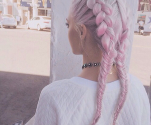 braids, pink, and girly image