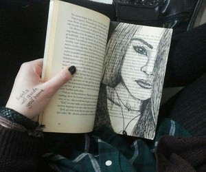 black, draw, and girl image