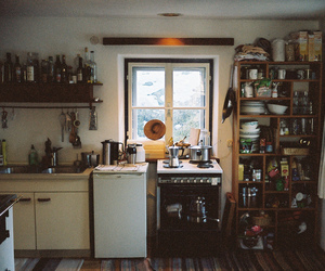 kitchen, vintage, and home image