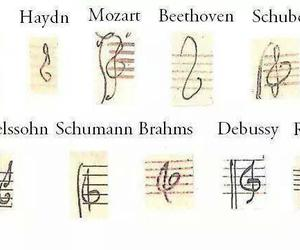 music, bach, and Beethoven image