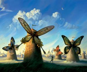 butterfly, art, and surrealism image