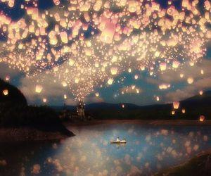 light, lantern, and sky image