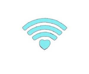 love, wifi, and heart image