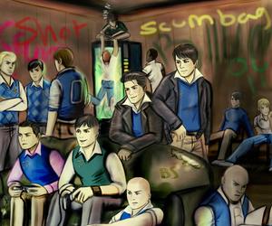 art, boys, and bully image