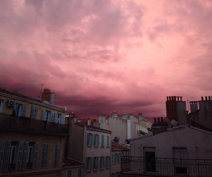 sky, pink, and city image
