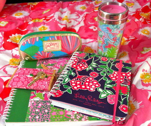 green, lilly pulitzer, and pink image