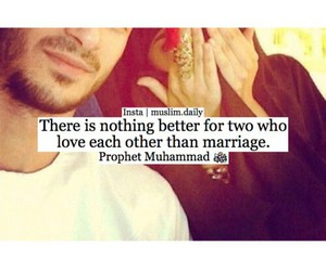 marriage, muslim, and prophet image