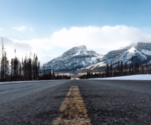 mountains, road, and adventure image