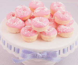 donuts, pink, and sweet image