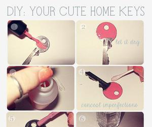 diy, key, and pink image