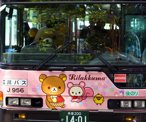 rilakkuma, bus, and japan image