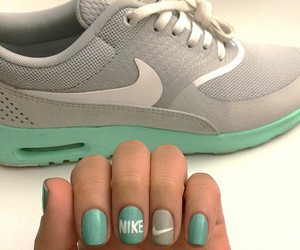 nike, nails, and grey image