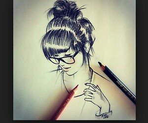 drawing, Easy, and girl image