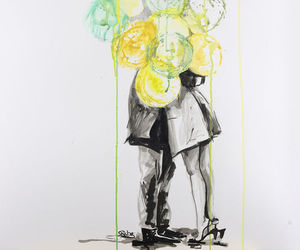 balloons, drawing, and girl image
