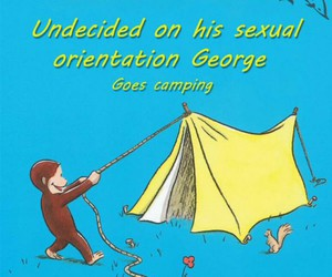 book, funny, and camping image
