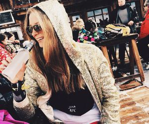 cold, ski, and girl image