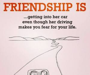 driving, friendship, and life image