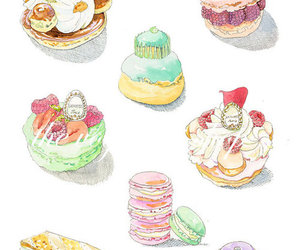art, macarons, and pastry image