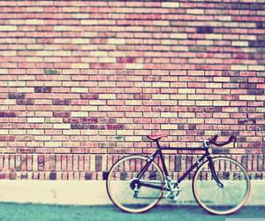 vintage, bike, and wall image