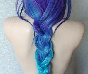 color, pale, and pastel hair image