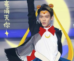 Chen, exo, and sailor moon image