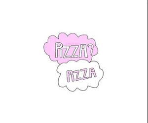 pizza, overlay, and food image