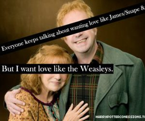 harry potter, weasley, and love image