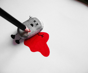 blood, kill, and pencil image