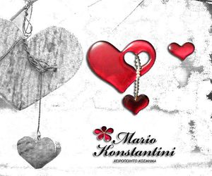 earrings, hearts, and pearls image