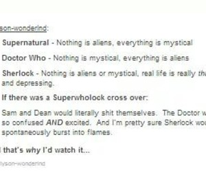 doctor, sherlock, and supernatural image
